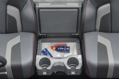 center console cooler with padded lid