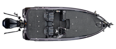 overhead view ofwide spacious front deck of the fx20