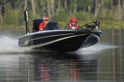 fast bass boat fun across water