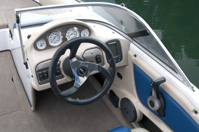 luxury console on family boat
