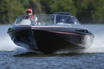 fast fish in ski boat