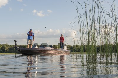 fishing in the shallows in this walleye boat