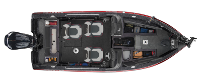 lots of storage spaces in this deep v fishing boat