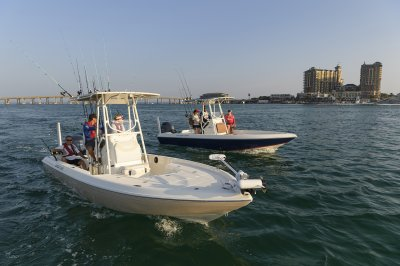 Two bay boats head out to chase some redfish
