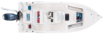 lots of storage options in this 21 foot bay boat