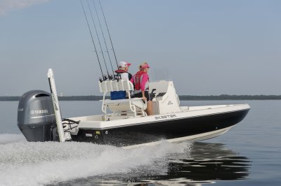 21 foot bay boat run smooth across shallow water