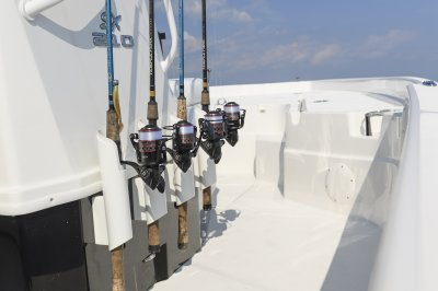 rod holder come standard on this saltwater fishing boat