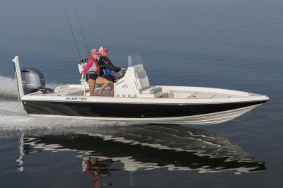 21 foot center console rides smooth across the bay