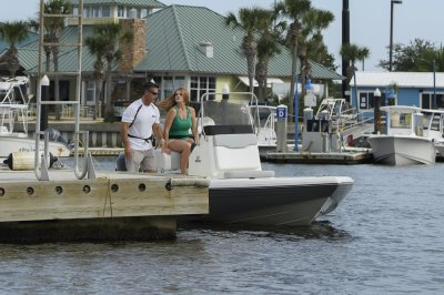 family friendly bay boat heads to the docks