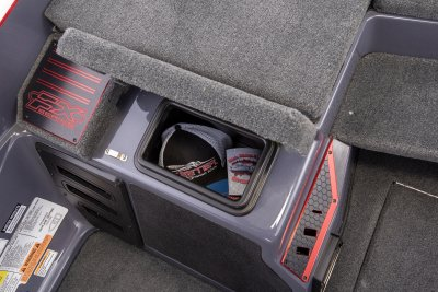 open passenger glove box on apex edition bass boat