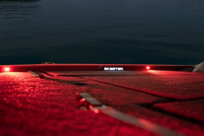 red led deck lighting on skeeter fx 21 apex editon bass boat
