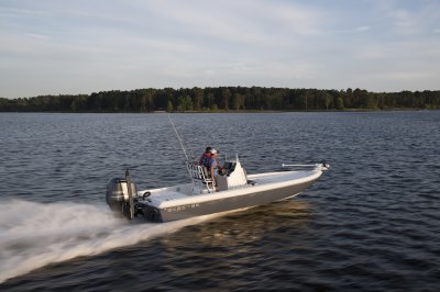 skeeter sx240 center console running down lake