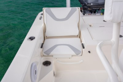 port side rear jumpseat on sx240 bay boat