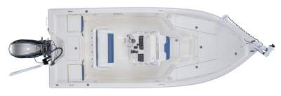 overhead shot of skeeter sx210 bay boat