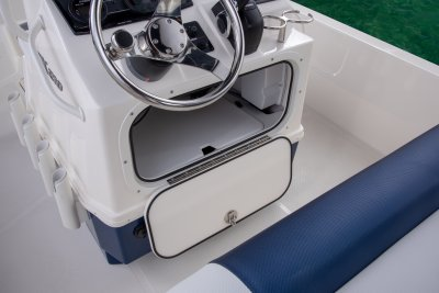 center console storage door open on skeeter sx210