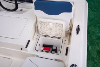 jumpseat storage box on sx210 bay