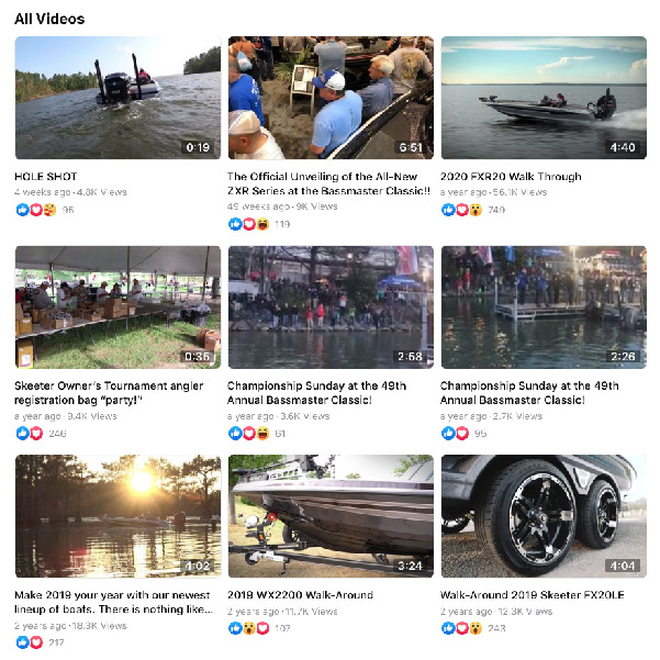 Skeeter Facebook Videos Tips Walkarounds