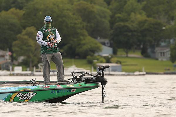 Scott Canterbury Fishing Bass in a Skeeter Boat