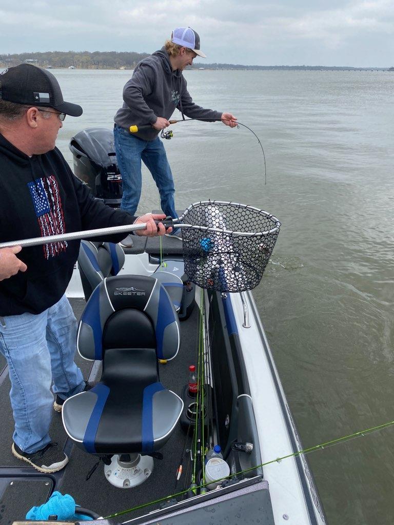 Crappie fishing in a Skeeter Boat