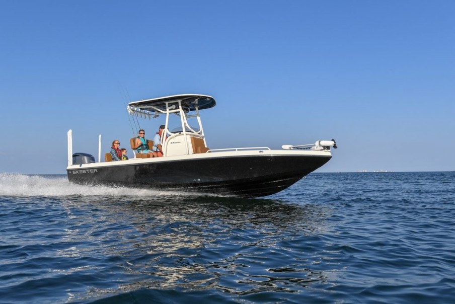 Skeeter SX2250 in the water at the Miami Boat Show