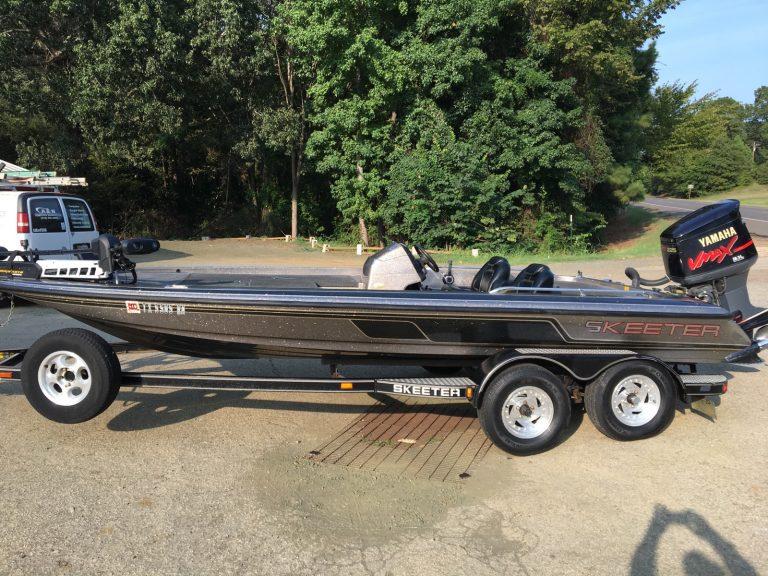 Harold Allen fishes in Skeeter Boats on Sam Rayburn Lake